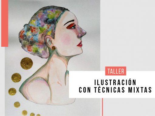 Taller para jóvenes : Ilustración con técnicas mixtas