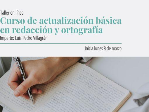 Taller en línea: Curso de actualización básica en redacción y ortografía