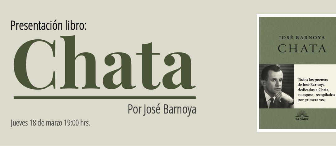 Presentación en línea del libro: «Chata»