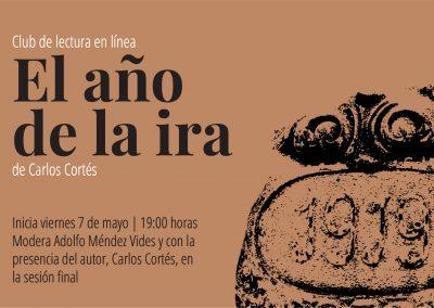 Club de lectura: El año de la ira, de Carlos Cortés.