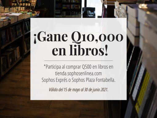 ¿Cuántos libros son suficientes? Gane Q10,000 en libros