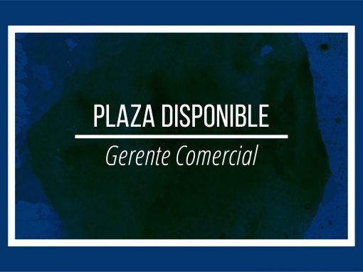 Plaza disponible: Gerente comercial