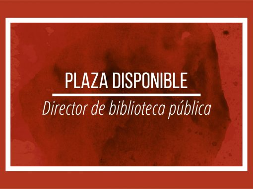 Plaza director de biblioteca pública