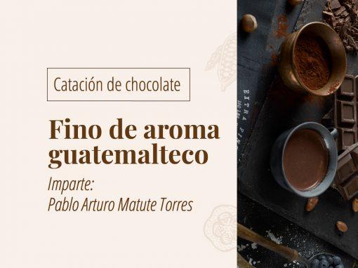 Catación de chocolate fino de aroma guatemalteco